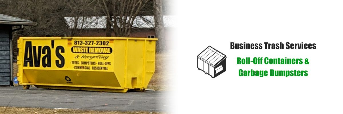 Ava's Waste Removal offers business trash service including roll-off containers & dumpsters.